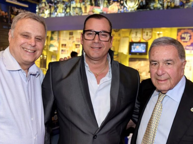 David Federman & Shimon Mizrahi, owners Maccabi Tel Aviv Basketball Club with Marchello Enchilini